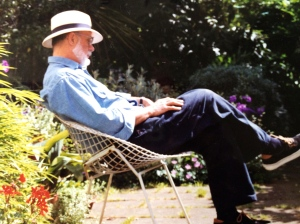 Colin Beales sitting in The Diamond Chair