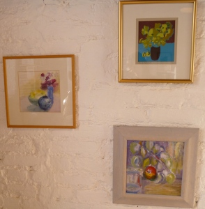 Print, watercolour and oil painting by Jennifer Beales on display at The Ken Stradling Collection