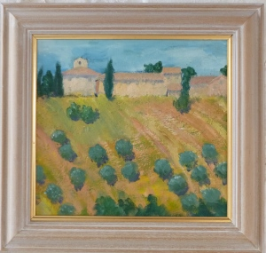 Oil painting of Tuscany by Jennifer Beales