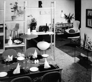 Interior design by Colin Beales in Newberry & Spindler for Woman's Journal 1959
